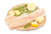 Alaska pollock fillets — Stock Photo