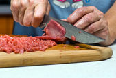 The cuts beef — Foto Stock