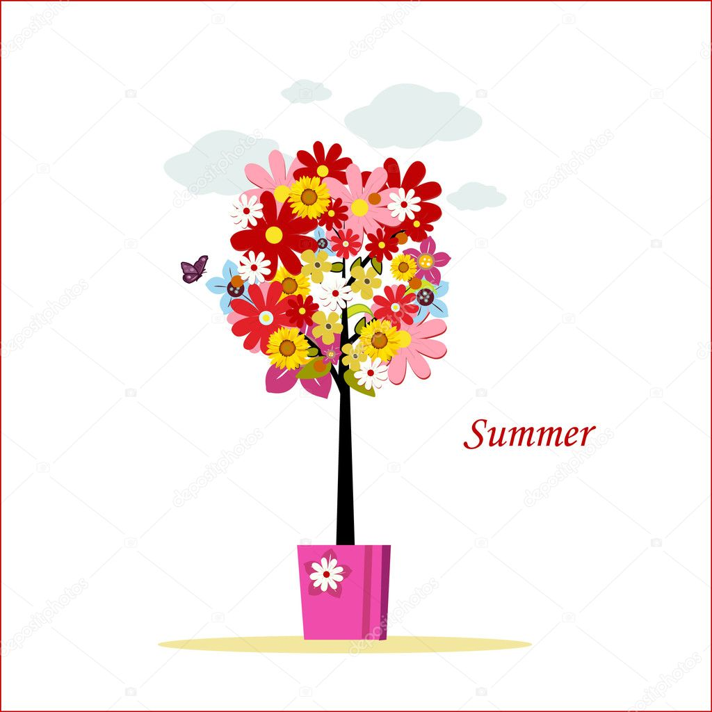 Summer tree vector illustration — Stock Photo #6405805