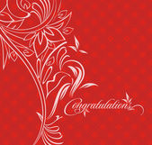 Tebrik kartı — Stok Vektör
