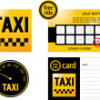 Taxi card — Stock Vector