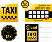 Taxi card — Stock Vector