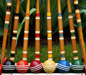 Croquet set — Stock Photo