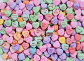 Candy hearts — Stock Photo