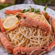 Shrimps with pasta — Stock Photo #5915325