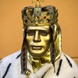 Man with the golden mask — Stock Photo