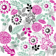 Stock Vector: Retro floral seamless background in vector