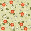 Seamless floral background in vector - Stock Vector