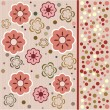 Flower seamless background design in vector - Stock Vector