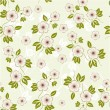 Spring floral seamless background in vector - Stock Vector