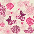 Seamless Retro Floral Background in vector - Stock Vector