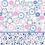 Flower seamless background design in vector — Stock Vector