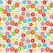 Royalty-Free Stock Vector Image: Seamless flower background design in vector