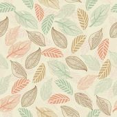 Seamless leaf pattern in vector — Stok Vektör