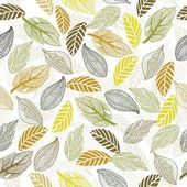 Seamless leaf pattern in vector — Stock Vector