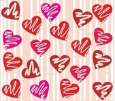 Seamless valentine day heart background in vector. — Stockvector
