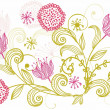Flower background in vector - Stock Vector