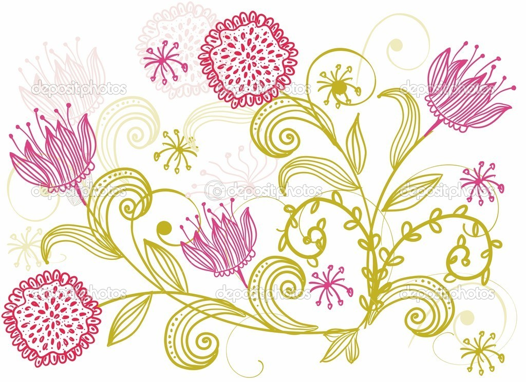 Floral seamless backgrounds for design of fabrics and wallpapers in vector — Stock Vector #5972046