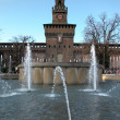 Sforzesco castle, Milan - Stock Photo