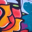 Colorful urban graffiti background - Stock Photo