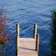 Dock on the lake — Stock Photo