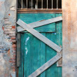 Old wooden gate — Foto Stock