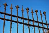 Wrought iron fence — Stock Photo