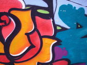 Colorful urban graffiti background — Stock Photo