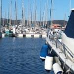 Sailboat marina — Stock Photo