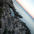 Foto Stock: Landscape of Gallipoli at sunset, Italy