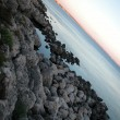 Landscape of Gallipoli at sunset, Italy - Stockfoto