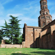 Chiaravalle abbey in Milan — Stock Photo