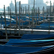 Stock Photo: Gondola boats in Venice