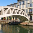 Naviglio in Milan, Italy - Stock Photo
