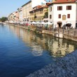 Stock Photo: Naviglio in Milan, Italy