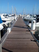 Sailboat marina — Stock Photo