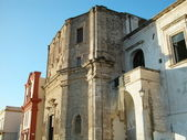 Churches in the old town of Gallipoli, Apulia, Italy — Stockfoto