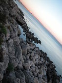 Landscape of Gallipoli at sunset, Italy — Stock Photo