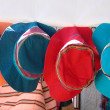 Colorful summer hats — Stock Photo