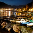 Seaside town of Levanto by night — Stock Photo