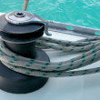 Winch and rope - Stockfoto