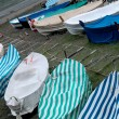 Boats laying on the beach — Stock Photo #6222289