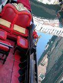 лодки гондолы в венеции — Стоковое фото