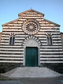 Striped church facade — Foto Stock
