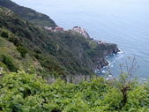 Corniglia and vineyards, Cinque Terre, Italy — Foto Stock