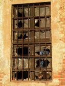 Old broken window — Stock Photo