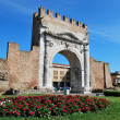 Augustus' triumph arch, Rimini, Italy — Stock Photo