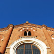 Viboldone church facade — Stock Photo