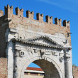 Stock Photo: Augustus' triumph arch, Rimini, Italy