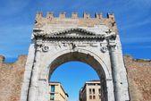 Augustus' triumph arch, Rimini, Italy — Stockfoto
